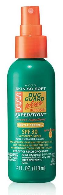 Avon Skin So Soft Bug Guard Plus IR3535® Expedition™ SPF 30 Pump Spray